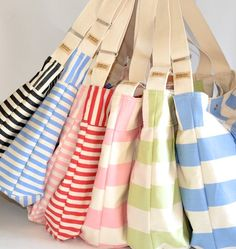 cute handmade tote - can also be used as a diaper bag