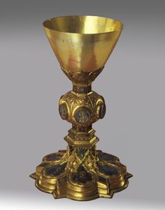 Italian , Sienese                                Chalice, ca. 1350–75                Silver and copper with gilding and translucent enamel