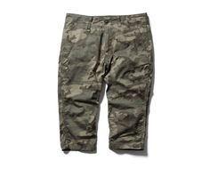 SOPHNET. CAMOUFLAGE SARROUEL CROPPED PANT