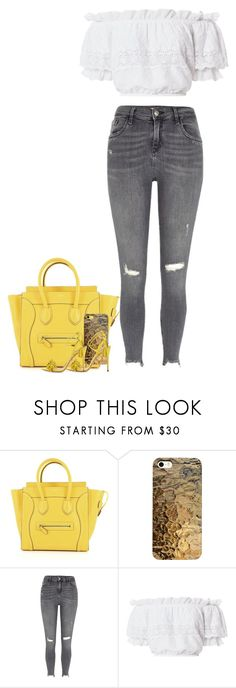 """""""Mellow Yellow 😙"""" by liahstyles ❤ liked on Polyvore featuring River Island, LoveShackFancy and Aquazzura"""