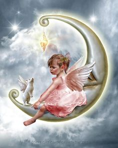 angels of the moon   Angel and the Moon.....