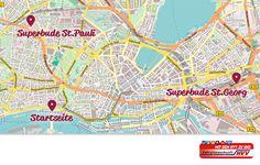 Günstige Übernachtung in den Hamburger Superbude Hostels / Hotels / Jugendherbergen