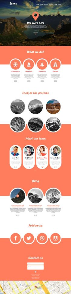 Landing page or site design inspiration. Large imagery to tell the story. Icons…