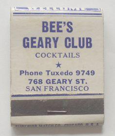BEE'S GEARY CLUB SAN FRANCISCO