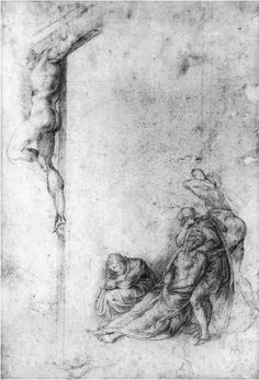 Disegni di figure umane: Disegni di Cristo in Croce di Michelangelo