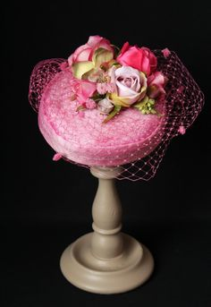 "Very Pink ""Coquette"" Pillbox with Roses"