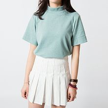 TriStyle - High-Neck Boxy T-Shirt
