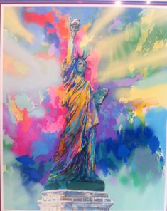 leroy neiman nieman statue of liberty lady new york lady liberty
