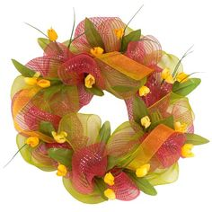 These mesh wreaths are everywhere right now. Love this one...must give a try at making one...