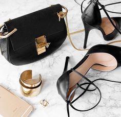 Chloé bag and Strappy black herls