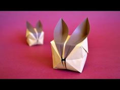 Origami Puffy Bunny Instructions: www.Origami-Fun.com - YouTube