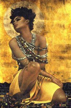 Lady on mellow yellow Black Artwork, Portraits, African American Art, Shades Of Yellow, Woman Painting, Mellow Yellow, Artist Art, Art World, Figurative Art