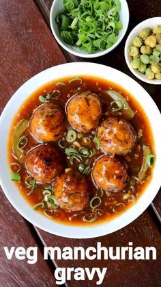 manchurian gravy recipe, veg manchurian gravy, vegetable manchurian with step by step photo/video. indo chinese gravy appetiser with deep fried veg balls. Veg Recipes, Spicy Recipes, Curry Recipes, Vegetarian Recipes, Cooking Recipes, Snacks Recipes, Dinner Recipes, Manchurian Recipe Vegetarian, Manchurian Gravy