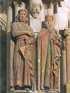 Экхарт и Ута. Сер. 13 в. Наумбургский собор