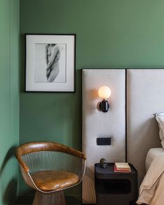 What's your favourite bedroom colour? For us, it doesn't get much better than the doses of tranquillity that the right shade of green can...  #greenwall #green #colourfulhomedecor #colourinspiration #bedroomdecor