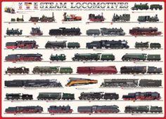 Eurographics - Steam Locomotives Trains Jigsaw Puzzle - 1000 pc
