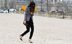 in Paris during fash. wk , i was always amazed at the ability of women to manuever the gravel and cobblestones in skinny stilettos