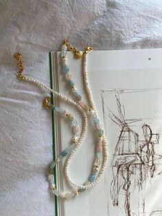 Nail Jewelry, Bead Jewellery, Cute Jewelry, Beaded Jewelry, Jewelery, Jewelry Accessories, Jewelry Design, Diy Jewelry Necklace, Gemstone Necklace