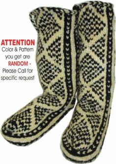 Mukluks Wool Slipper Sox (Small, Men's Color Tones--Blacks Blues Greens Etc. Knitted Slippers, Slipper Socks, Knitting Socks, Knit Socks, Knitting Ideas, Diy Fashion, Fashion Shoes, Clothing And Textile, Monkey Business
