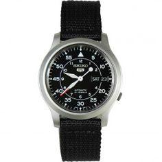 Seiko SNK809 SNK809K2 Mens Nylon 5 Military Automatic mens watch