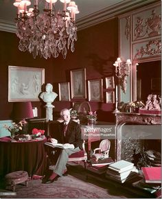 Beaton in the drawing room at Reddish House before it was enlarged.