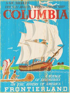 Giclee Printed Columbia Attraction Poster by faisonstout on Etsy