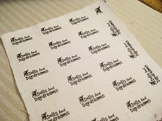 How to make your own cloth labels using Freezer Paper.... the possibilities...
