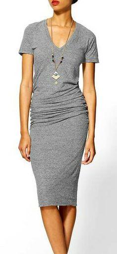 Shirred Tee Dress