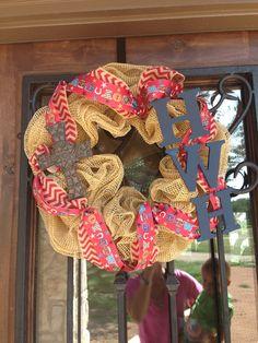Custom baby wreath on Etsy, $80.00