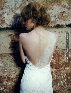 lace back-strap. | CHECK OUT MORE IDEAS AT WEDDINGPINS.NET | #weddings #weddingdress #inspirational