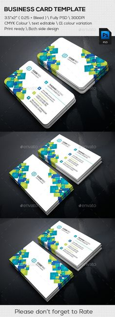 Abstract Corporate Business Cards - Business Cards Print Templates