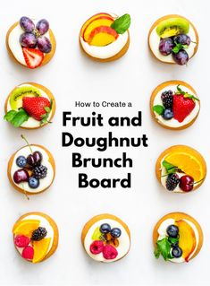 How to Create a Fruit and Doughnut Board For Brunch - Revel and Glitter Doughnut, Donuts, Brunch, Glitter, Fruit, Lifestyle, Create, Board, Desserts