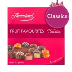 Thorntons Classics - Fruit Favourites omg how can you NOT want more n more of these Candy Recipes, Sweet Recipes, Thorntons Chocolate, Chocolate Hampers, Selection Boxes, Chibi Food, Christmas Hamper, Chocolate Toffee, Food Drawing