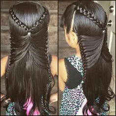 The Butterfly Braid! The Butterfly Braid! Baby Girl Hairstyles, Pretty Hairstyles, Braided Hairstyles, Perfect Hairstyle, Butterfly Braid, Butterfly Hairstyle, Girl Hair Dos, Natural Hair Styles, Long Hair Styles