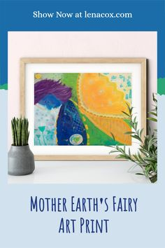 The Mother Earth's fairy giclée art print features a faerie enjoying the fragrance of teal wildflowers in nature. The artwork was inspired by the magic felt coming across wildflowers on hikes. The giclee wall art is available in three sizes 6x8, 9x12, and 12x16. These unframed PRINTS were created from my original acrylic paintings. ✪ Acid-Free bright white, 100% cotton, 290 gsm, 21.5 mil, archival quality, slightly textured, smooth fine matte art paper #art #decor #fairy Kitchen Art Prints, Art Prints For Home, Art Prints Quotes, Wall Art Prints, Cheap Wall Art, Contemporary Art Prints, Foyer Ideas, University College, Orange Aesthetic