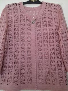 Hand Knitting Women's Sweaters Gilet Crochet, Crochet Coat, Crochet Cardigan Pattern, Crochet Jacket, Crochet Stitches Patterns, Crochet Blouse, Baby Knitting Patterns, Diy Crochet, Crochet Clothes