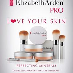 love your skin, love Elizabeth Arden PRO perfecting minerals. Clinically proven skincare minerals now available from Rebel Rouge in Glasgow Skin Clinic, Love Your Skin, Glasgow, Rebel, Minerals, Skincare, Beauty, Red, Skincare Routine