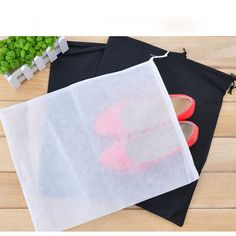 2pcs/LOT Non-Woven Shoe Organizers Storage Bag Travel Pack Dust Proof Protect  P