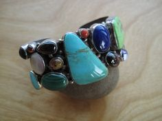 Hey, I found this really awesome Etsy listing at https://www.etsy.com/listing/210327121/multistone-native-american-sterling