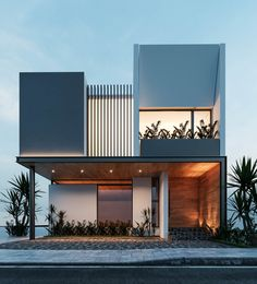 Welcome to Besana Studio House Architecture Styles, Facade Architecture, Chinese Architecture, Futuristic Architecture, Modern House Facades, Modern House Design, Facade Design, Exterior Design, Minimalist Architecture