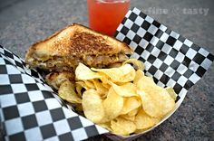 BBQ Pulled Pork Grilled Cheese with Carmelized Onions, Fork In The Road Food Truck, Twin Cities, MN