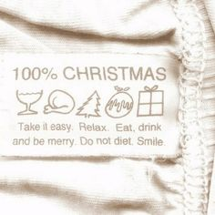 100% Christmas.  Take it easy.  Relax.  Eat.  Drink and be Merry.  Do not diet.  Smile.