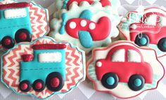 Planes Trains and Cars Cookies von DolceCustomCookies auf Etsy