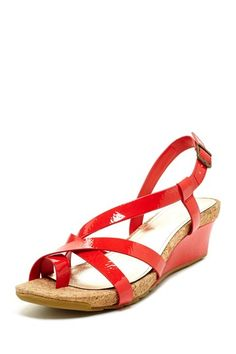 Kenneth Cole Reaction Sun Rays Wedge Sandal by Slide Into Sandals on @HauteLook