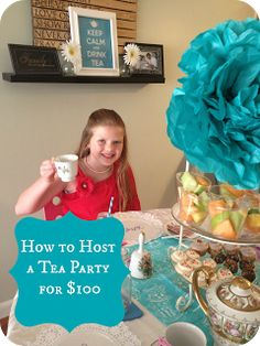 Loved it! Home 4 Good: How to Host a Little Girls Tea Party Girls Tea Party, Princess Tea Party, Tea Party Theme, Tea Party Birthday, Birthday Ideas, 9th Birthday, Tea Party Games, Kids Tea Parties, Elsa Birthday