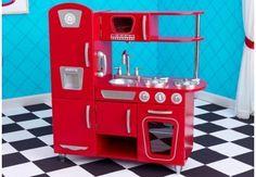 Kidkraft Retro Küche rot Spielküche Kinderküche