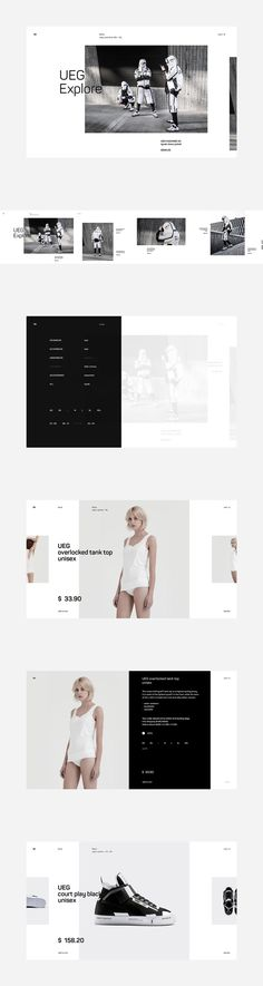 UEG Fashion Website - Behance #ui #ux #userexperience #website #webdesign #design #minimal #minimalism #art