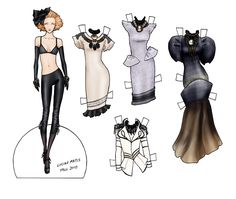 dress up viste muñecos papel paper dolls lucian matis