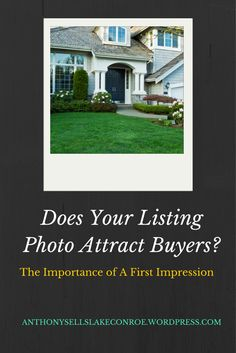 I can't stress enough the importance of a great first impression when selling your home. Tips from real estate agent Anthony Coleman