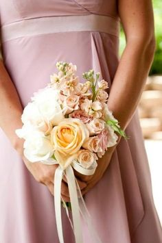 ebe52f6be56 I love this blush bouquet by Soleil Flowers Temecula CA - it is a natural  shape
